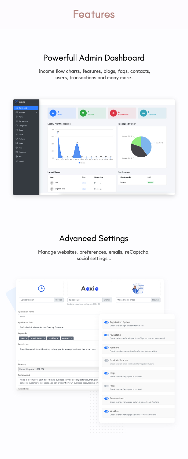 Aoxio - SaaS Multi-Business Service Booking Software - 4