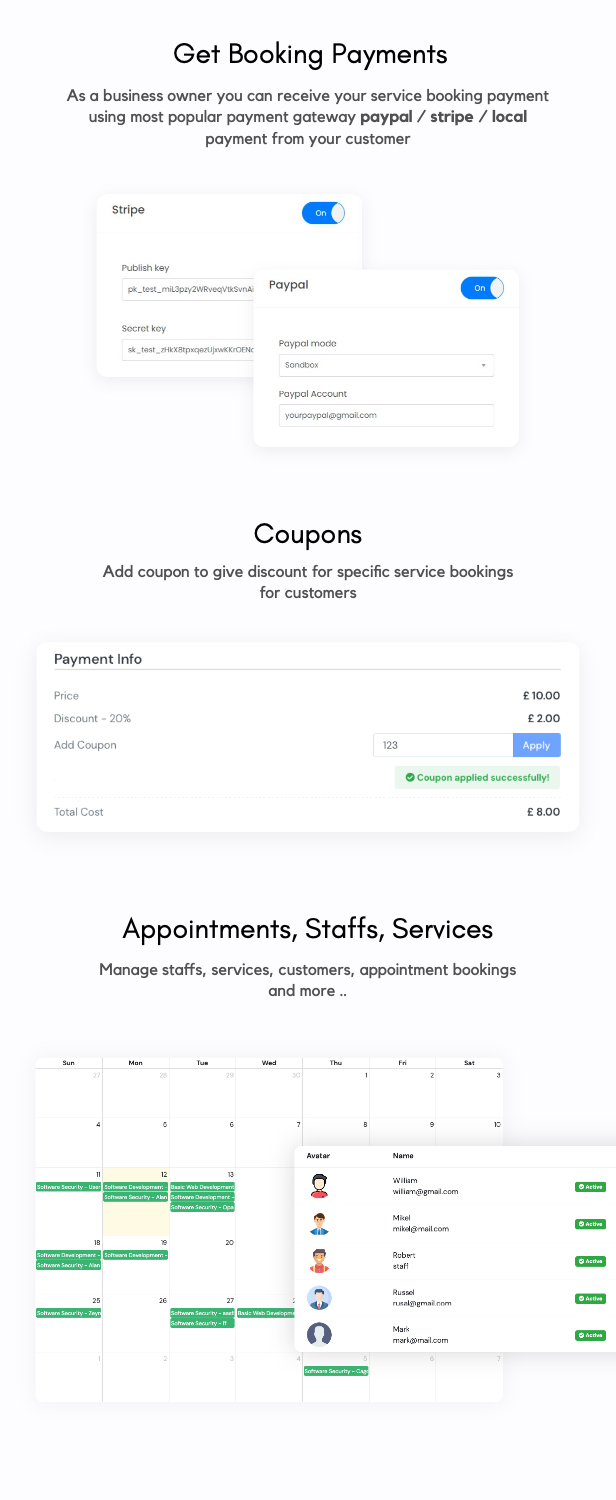 Aoxio - SaaS Multi-Business Service Booking Software - 9