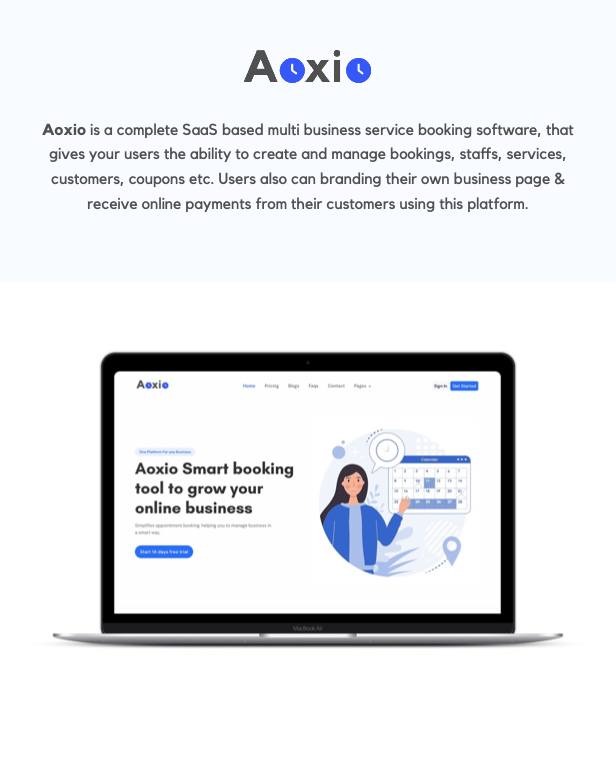 Aoxio - SaaS Multi-Business Service Booking Software - 2